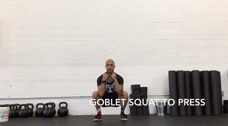 Goblet Squat to Press