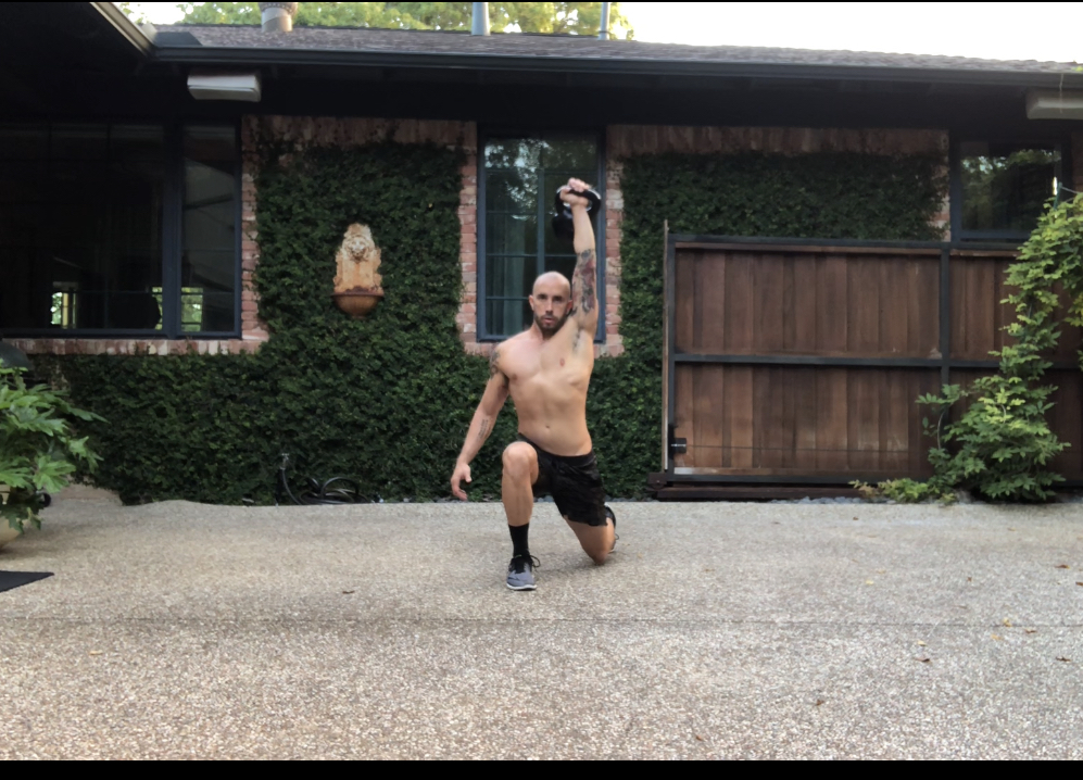 Movement of the Week: KB 1 Arm Clean Lunge Press